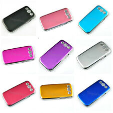 Metal color Hard Phone case for SAMSUNG Galaxy S3 SIII Gold Silver Red Pink ABS