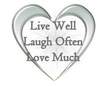 Custom Made T Shirt Live Well Laugh Often Love Much Heart Awesome Starburst