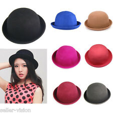 Fashion Lady Vogue Vintage Women's Wool Cute Trendy Bowler Derby Hat Fashion