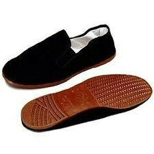 Men Chinese Martial Art Kung Fu Ninja Shoes Slip On RUBBER Sole Canvas Slippers