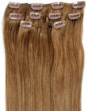 "16 18 20"" Lightest Brown Clip in HUMAN HAIR EXTENSION #10"