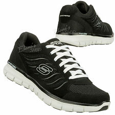 Skechers 51182R BKW Synergy Sneakers NEW FlexSole MENs Shoe Black White Trainers