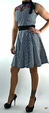 TOO FAST GINGHAM GOTHIC TATTOO ROCKABILLY CHERRY PIN UP 50'S GOTH SKULL DRESS