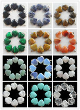 Wholesale 10pcs Beautiful mixed stone Heart pendant bead pick your stone CJ-019