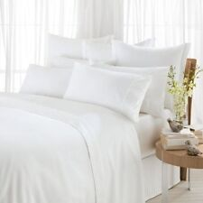 100% PURE WHITE HEAVY EGYPTIAN COTTON FLAT SHEETS 550GSM EGYPTIAN PLAIN TOWELS