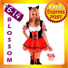 J44 Little Red Riding Hood Wolf Storybook Fancy Dress Halloween Costume Outfit