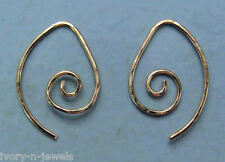 Small Fancy Looped INTERCHANGEABLE Earring Wires Hammered YG or SS