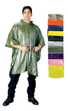 rain poncho waterproof vinyl w/carrying pouch 50x80 rothco 3682
