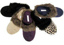 Charter Club plush velvet slippers faux fur trim choose size & color NEW $24