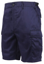 shorts navy blue bdu style cargo rip stop or poly cotton rothco 65209 7050