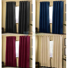 "New 2Pcs 40""x 84"" Micro Suede Grommet Panels Curtains Window Coverings 4Colors"