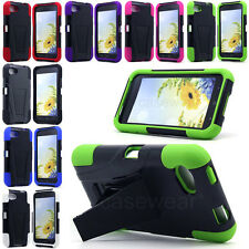 For HTC First AT&T Facebook Phone V3 Kickstand Double Layer Hard Case Gel Cover