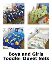 Girls and Boys Toddler Duvet Cover and Pillowcase - Cotbed Junior Bedding Sets