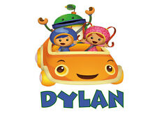 Team Umi Zoomi Car  Dylan babyTshirt one piece with childrens name