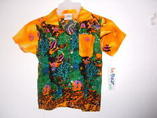 NEW KIDS / BOYS GIRLS   HAWAIIAN SHIRT TROPICAL FISH & TROPICAL REEF  pic sz