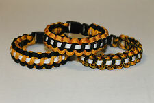 Boston Bruins Colors Paracord Bracelets, Custom Fit, Hockey, Stanley Cup, NHL