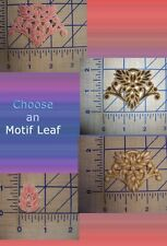 Motif Mosiac Filigree Leaf Iron On Patch Sew On Glue On Applique Embroidered