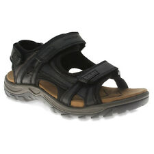 NEW IN BOX!!! SPRING STEP Mens Domain Sport Sandals Black Leather DOMAIN-B