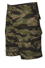 Tru-Spec Vietnam Tiger Stripe Zip Fly BDU shorts 100% cotton ripstop