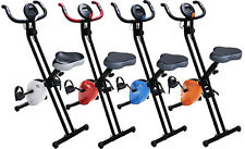 FOLDABLE MAGNETIC EXERCISE X BIKE FITNESS CARDIO WORKOUT WEIGHT LOSS MACHINE NEW