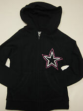 NEW Youth Girls Kids Dallas COWBOYS HerStyle Zip Up Jacket NFL Team Apparel