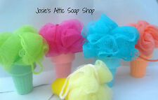 Handmade~Ice Cream Cone Soaps with Pouf ~Fake Food~Kids Soap~ You pick Fragrance