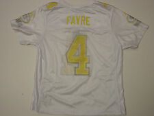 NEW Womens REEBOK Brett Favre #4 Green Bay PACKERS White NFL Football Jersey