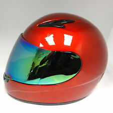 New Youth Kids Motorcycle ATV Dirt Bike Full Face Helmet Glossy Red S M L XL