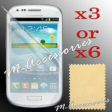 3 LAYER CLEAR LCD SCREEN PROTECTOR GUARD + CLOTH FOR SAMSUNG MOBILE PHONES