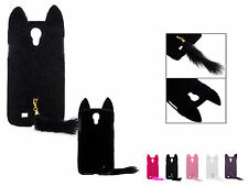 3D Cute Fluffy Tail Cat Plastic Skin Case Cover For Samsung Galaxy S4 S IV i9500