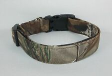 RealTree AP Forest Woods Camo Dog Collar custom made adjustable hunting fabric