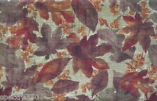 NATURE'S PATH Autumn Fall Leaves Berries Thanksgiving Fabric Tablecloth NIP