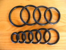 """O-RINGS Black Rubber Buna-N - 25 Sizes to Choose from 7/16"""" ID up to 2-3/4"""" ID"""