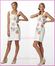 $268 Lilly Pulitzer 26991 Bree Resort White Powder Puff Embroidery Dress 12