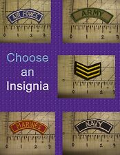 """3"""" Army Navy Military Insignia Iron On Patch Sew On Glue On Applique Embroidered"""