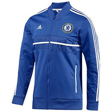 adidas Chelsea FC 2013 - 2014 Soccer Track Jacket Royal Blue / White Brand New
