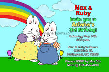 Max and Ruby Invitations Birthday Party Invites Personalized Custom Made