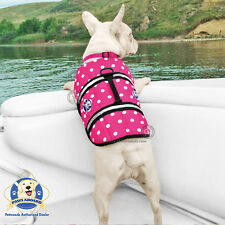 Paws Aboard Dog Life Jacket Small Pink Dots Boat Swim Pool Vest 15-20 lbs NEW!