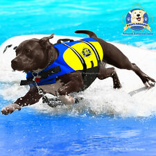 PAWS ABOARD Dog Life Jacket Vest X-Large Blue & Yellow Neoprene Surf XL XXL NEW!