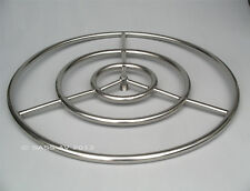 """12"""",18"""",24"""",30"""" FIRE PIT Stainles Steel round gas burner ring, glass rocks logs"""