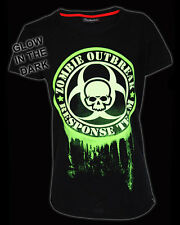 Darkside Clothing Glow In The Dark Zombie Outbreak Response Team Horror Tshirt