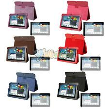 "7 Colors PU Leather Case + Protector for Samsung Galaxy Tab 2 10.1"" P5100 P5110"