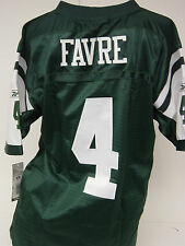 NEW Kids Youth REEBOK Brett FAVRE #4 NY JETS Green Stitched NFL Football Jersey