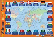 New Welcome To The World Educational Children's Map Mini Poster