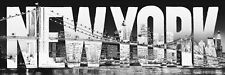 New New York Typeface The Big Apple Panoramic Poster