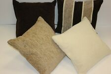 Chenille Chocolate, Beige & Cream Plain & Striped Cushion Covers - NEW