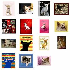 Chihuahua Dog Picture Fridge Magnet Pick Your Favorite Free Text Personalization