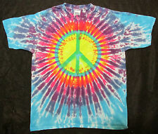 PEACE SIGN SILK SCREEN TIE DYE KIDS T SHIRT