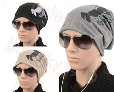 New Womens Mens Unisex Hip-hop Hat Baggy Beanie Cotton Blend Hats Cap 5 Color