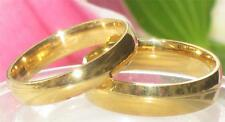 MENS WOMENS 5MM 6MM 3MM PLAIN WEDDING RING WEDDING BAND 18kt GOLD PLATED STR278